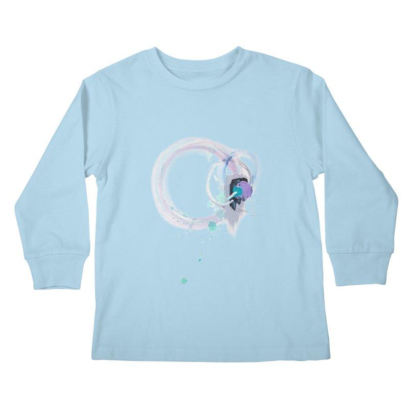 JOY // Ripple Effect Kids Longsleeve T-Shirt by Desanka Spirit's Artist Shop