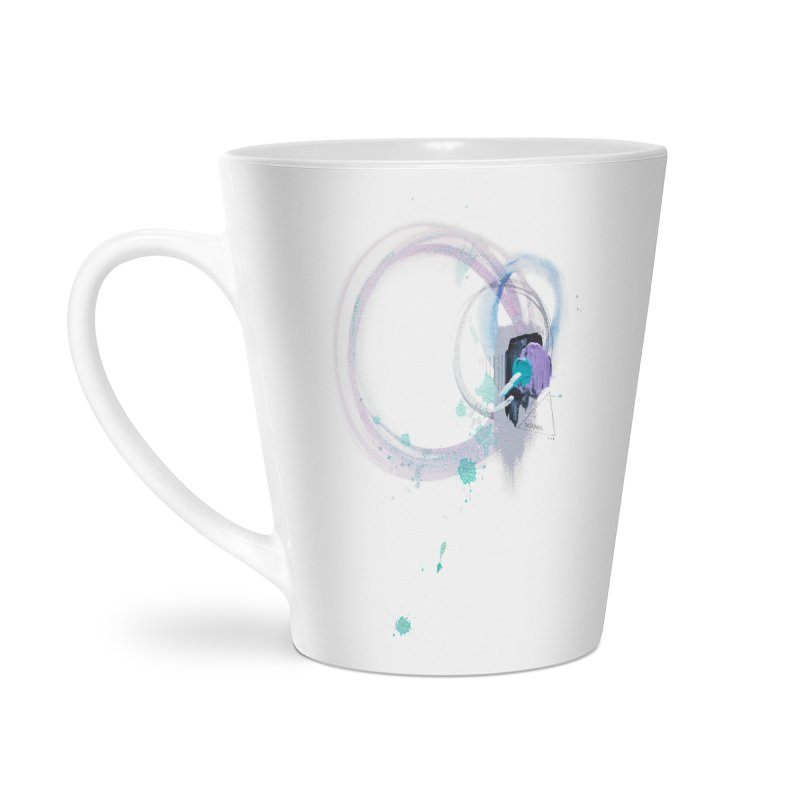 JOY // Ripple Effect Accessories Latte Mug by Desanka Spirit's Artist Shop