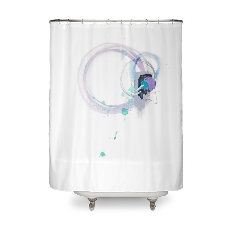 JOY // Ripple Effect Home Shower Curtain by Desanka Spirit's Artist Shop