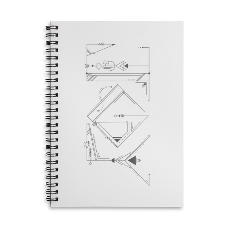 JOY // Connected Accessories Lined Spiral Notebook by Desanka Spirit's Artist Shop