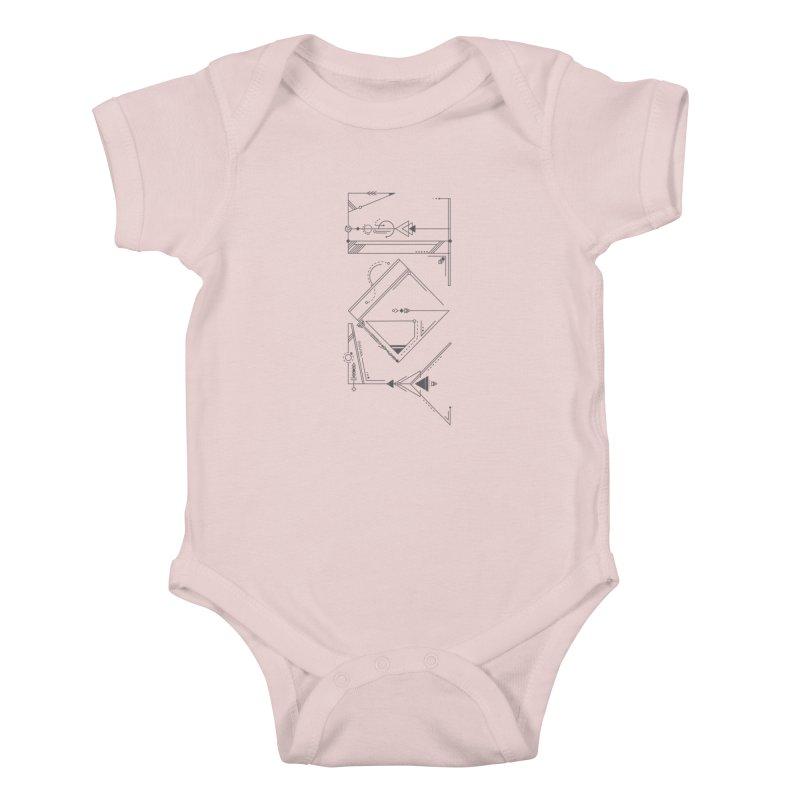JOY // Connected Kids Baby Bodysuit by Desanka Spirit's Artist Shop