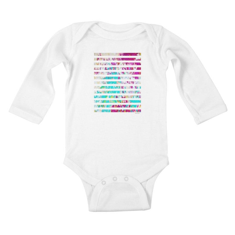 JOY // Colors Exploding Kids Baby Longsleeve Bodysuit by Desanka Spirit's Artist Shop