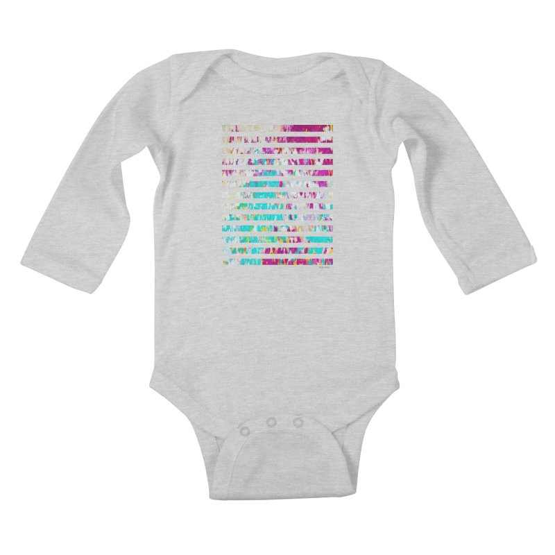 JOY // Colors Exploding Kids Baby Longsleeve Bodysuit by Desanka Spirit's Artist Shop