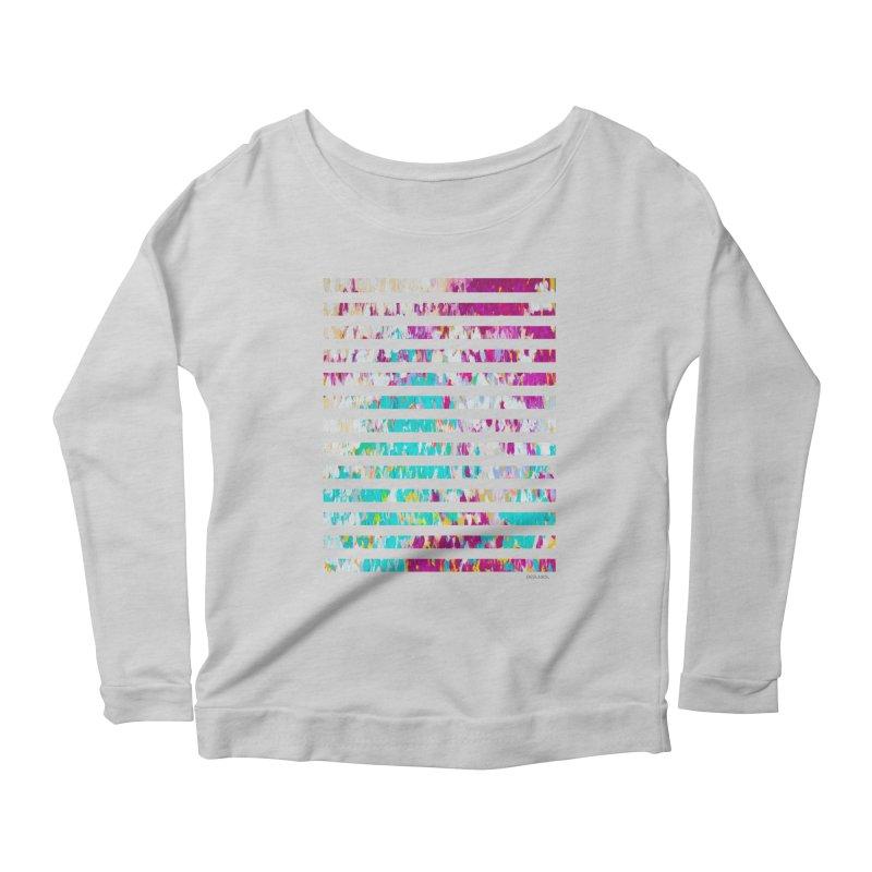 JOY // Colors Exploding Women's Scoop Neck Longsleeve T-Shirt by Desanka Spirit's Artist Shop