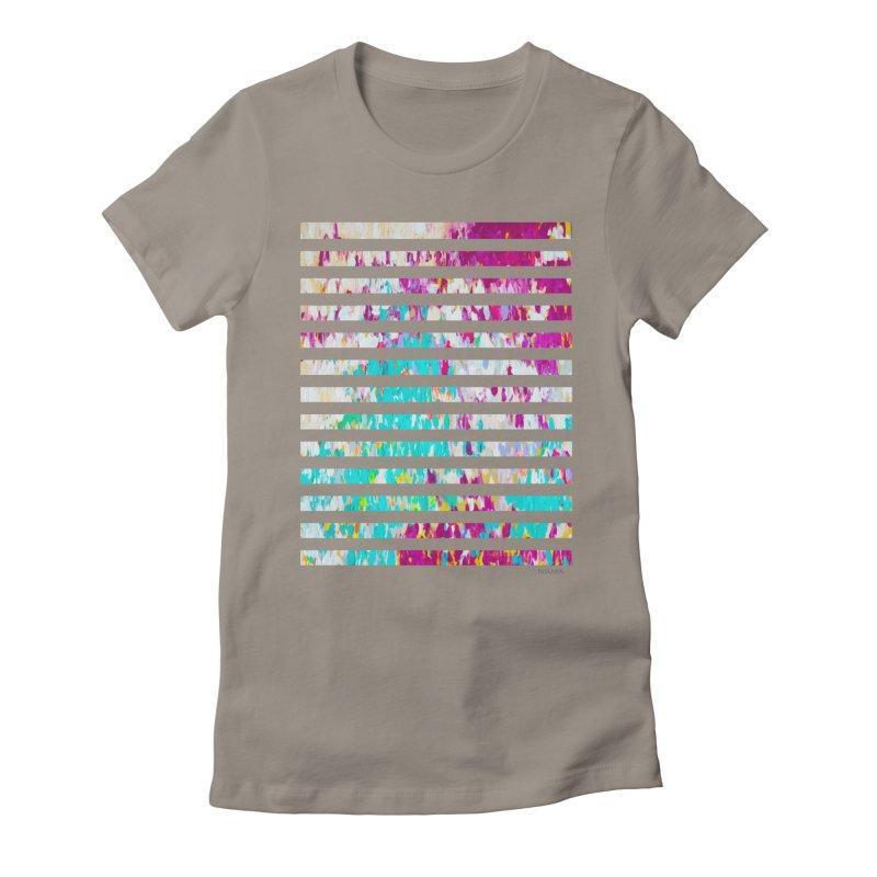JOY // Colors Exploding Women's Fitted T-Shirt by Desanka Spirit's Artist Shop