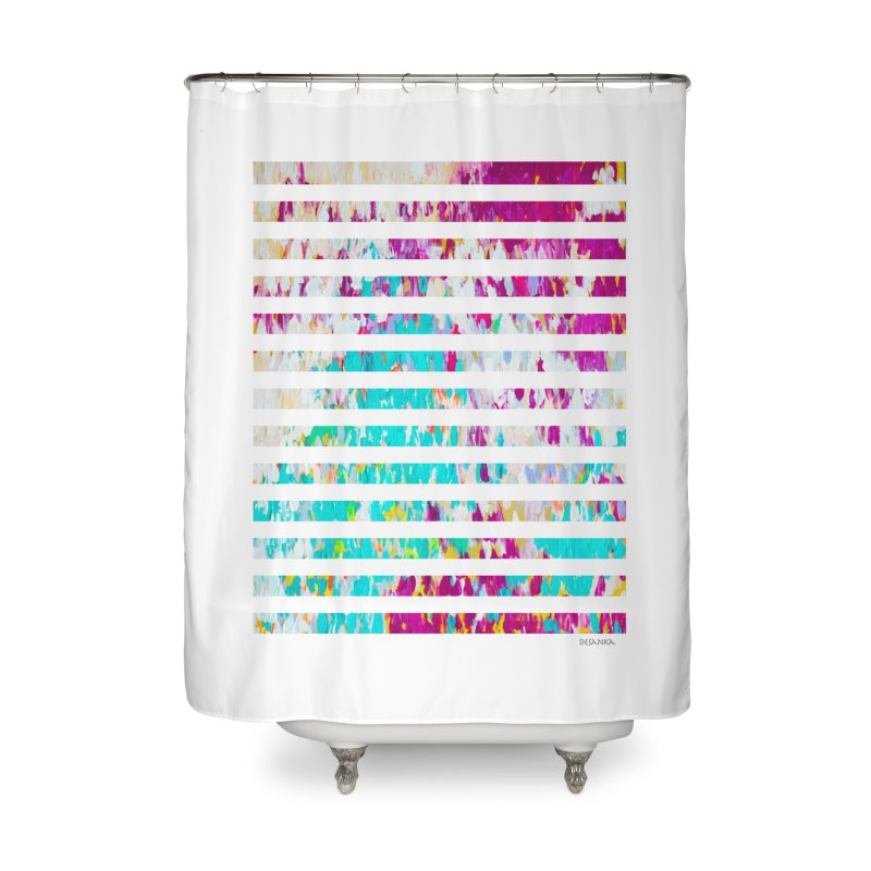 JOY // Colors Exploding Home Shower Curtain by Desanka Spirit's Artist Shop