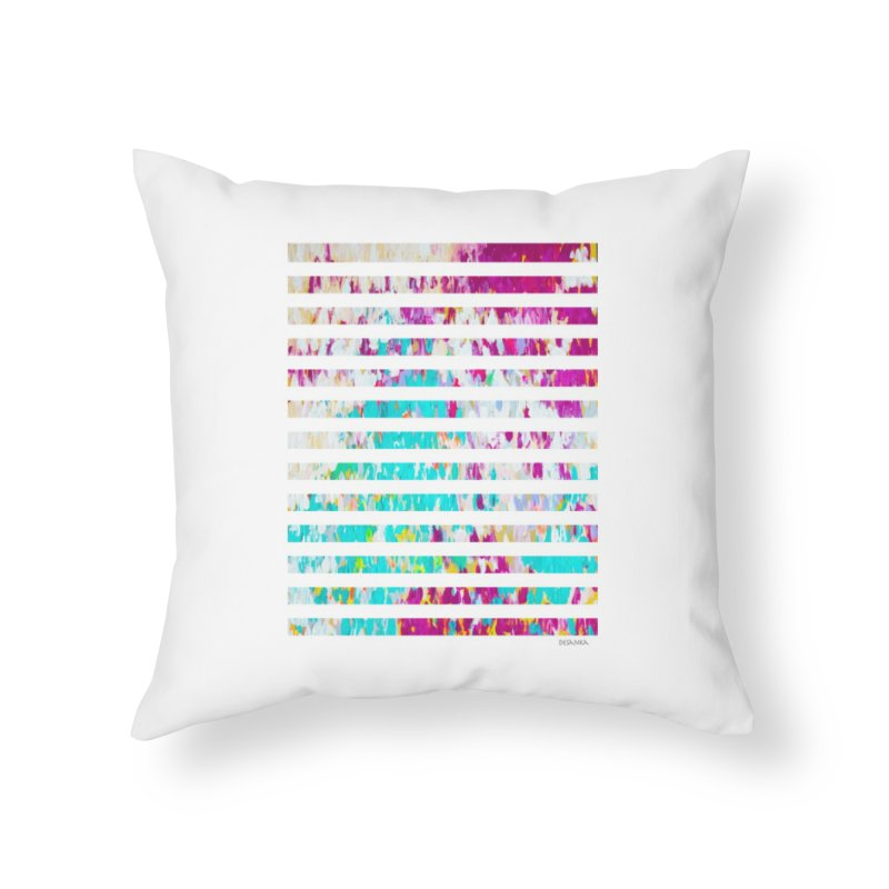 JOY // Colors Exploding Home Throw Pillow by Desanka Spirit's Artist Shop
