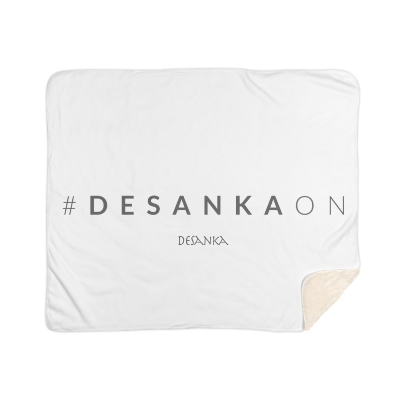 Joy // Desanka On Home Sherpa Blanket Blanket by Desanka Spirit's Artist Shop