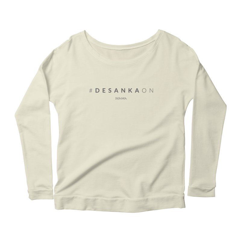 Joy // Desanka On Women's Scoop Neck Longsleeve T-Shirt by desankaspirit's Artist Shop
