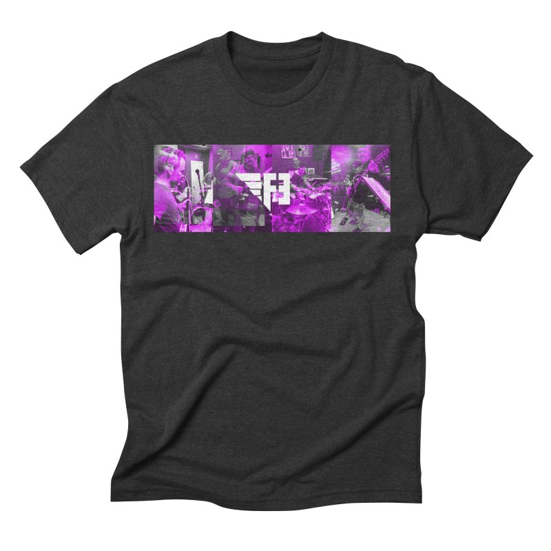 F3 Band Collage in Men's Triblend T-Shirt Heather Onyx by Design AGO Artist Shop