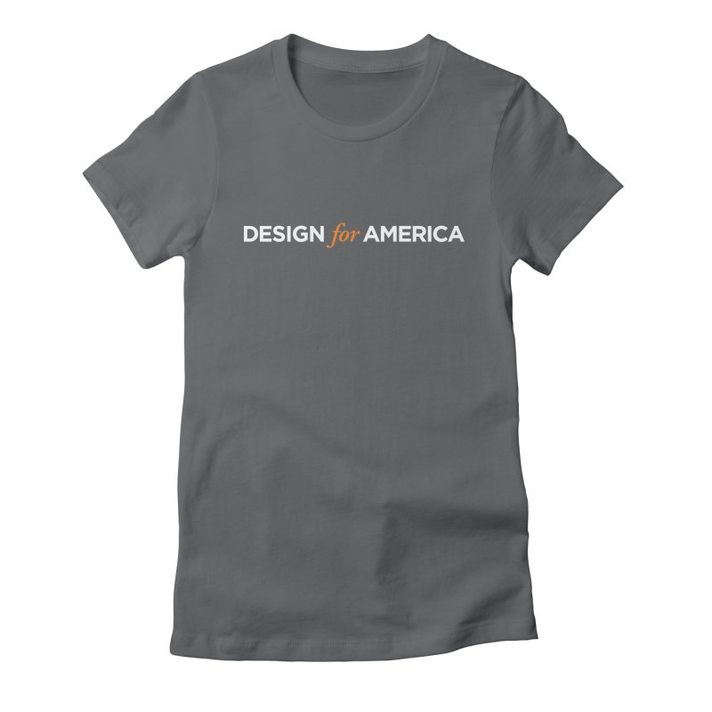 DFA logo essentials Women's Fitted T-Shirt by Design for America's Artist Shop