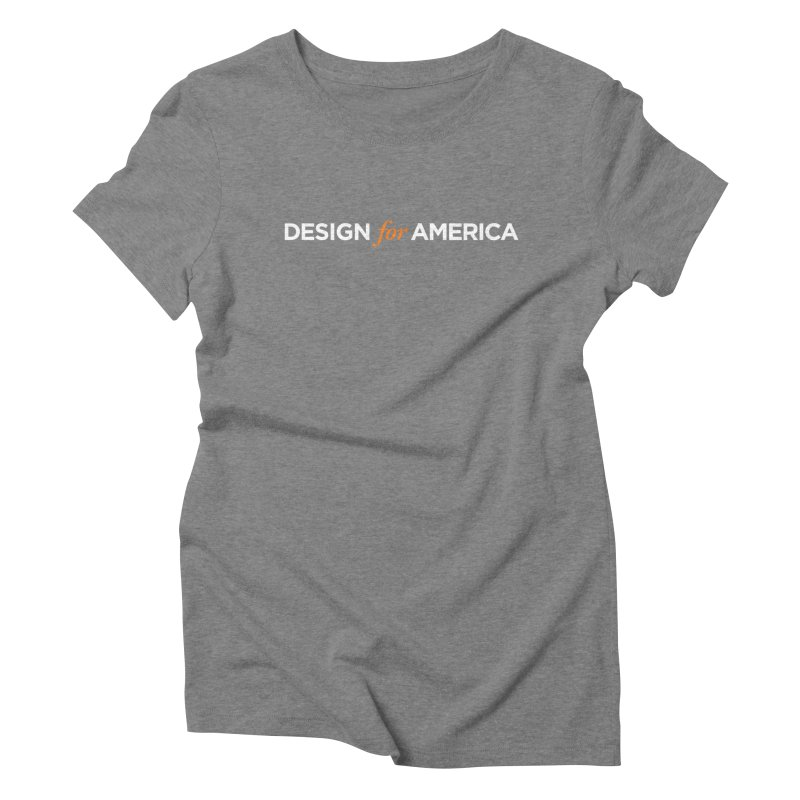 DFA logo essentials Women's Triblend T-shirt by Design for America's Artist Shop