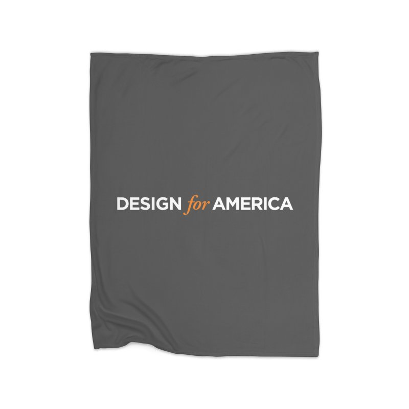 DFA logo essentials Home Fleece Blanket by Design for America's Artist Shop