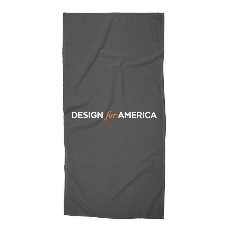 DFA logo essentials Accessories Beach Towel by Design for America's Artist Shop