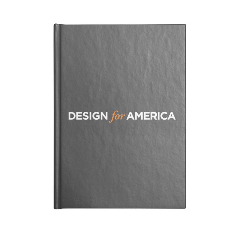 DFA logo essentials Accessories Notebook by Design for America's Artist Shop