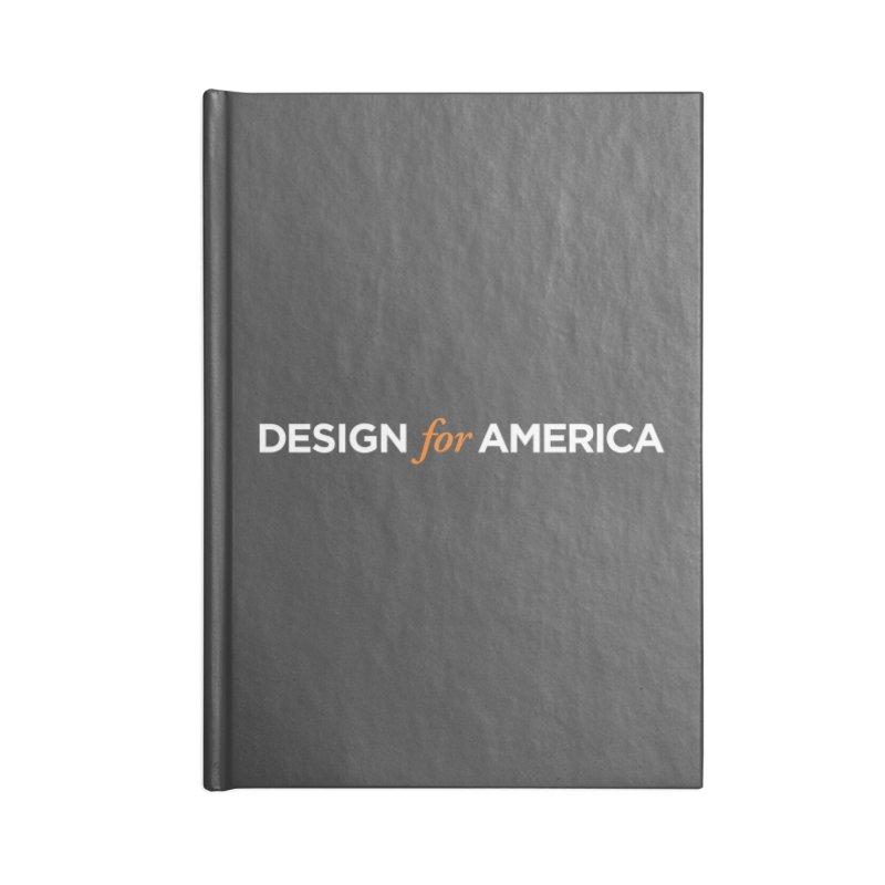 DFA logo essentials Accessories Notebook by Design for America's Artist Shop