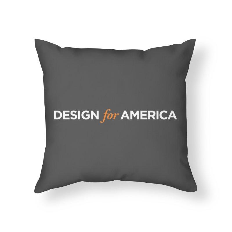 DFA logo essentials Home Throw Pillow by Design for America's Artist Shop