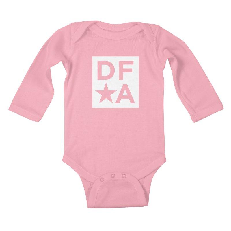 DFA icon essentials Kids Baby Longsleeve Bodysuit by Design for America's Artist Shop