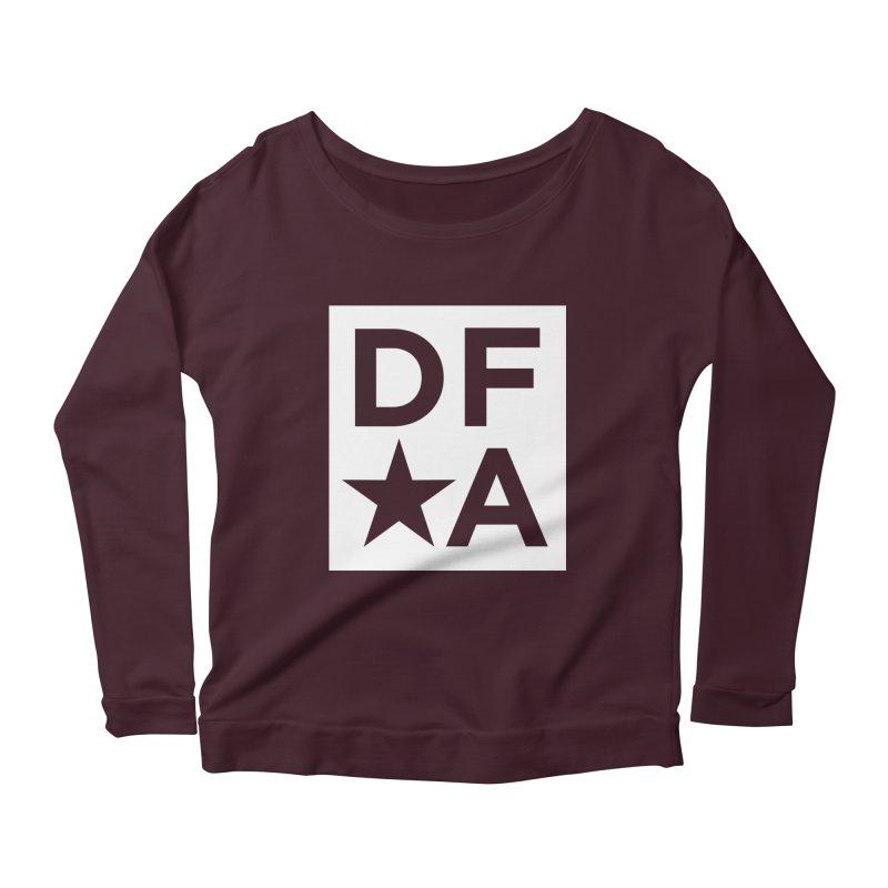 DFA icon essentials Women's Longsleeve Scoopneck  by Design for America's Artist Shop