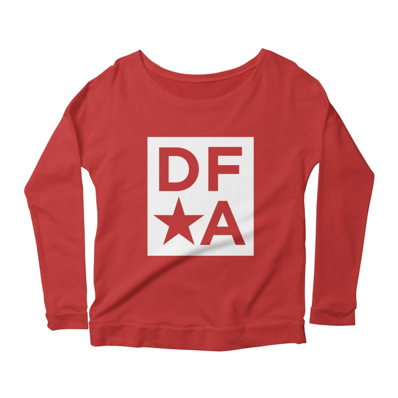 DFA icon essentials Women's Longsleeve Scoopneck  by Design for America's Artist Shop