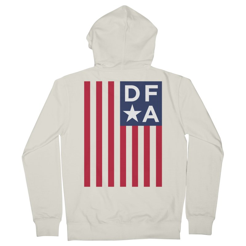 DFA Flag Men's Zip-Up Hoody by Design for America's Artist Shop