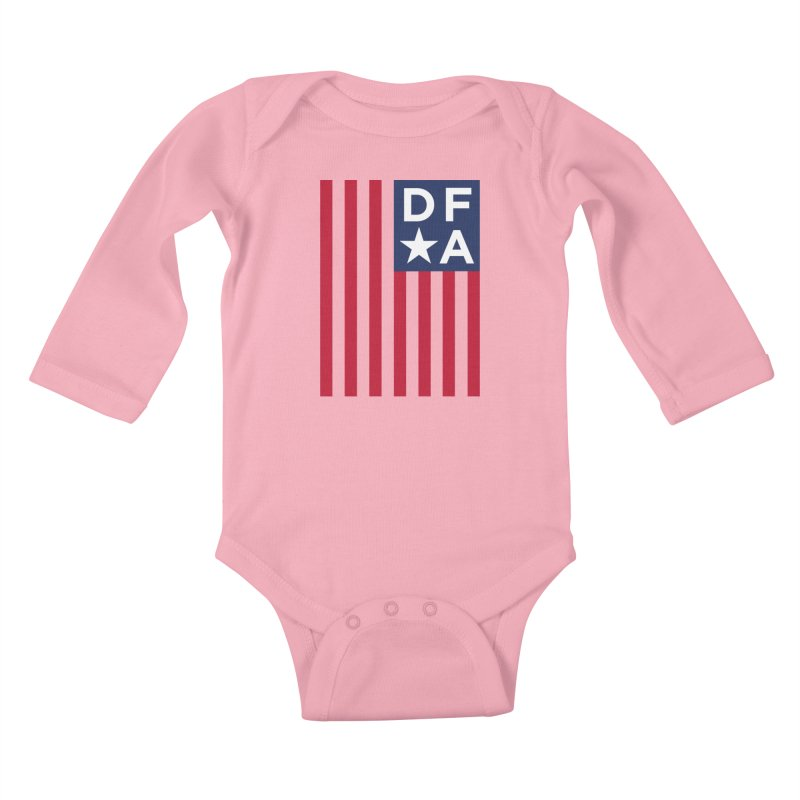 DFA Flag Kids Baby Longsleeve Bodysuit by Design for America's Artist Shop