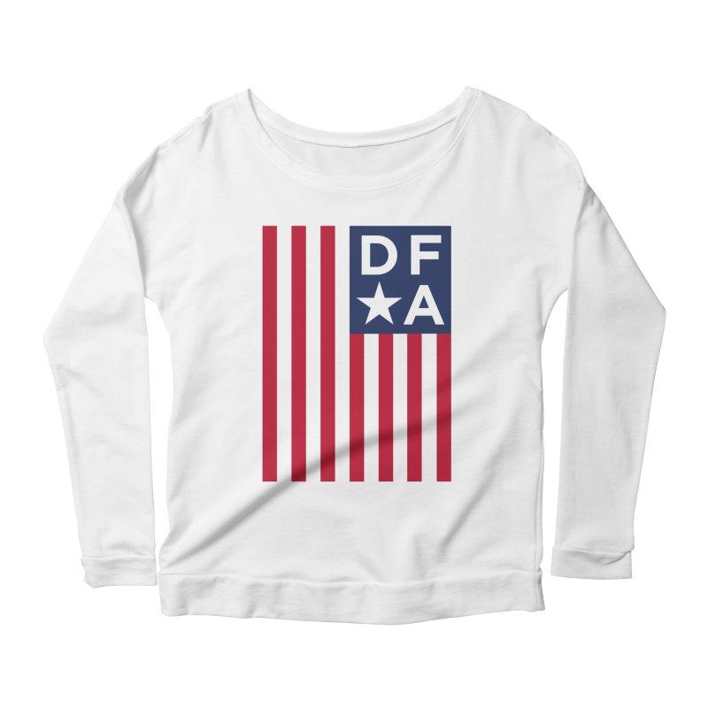DFA Flag Women's Scoop Neck Longsleeve T-Shirt by Design for America's Artist Shop