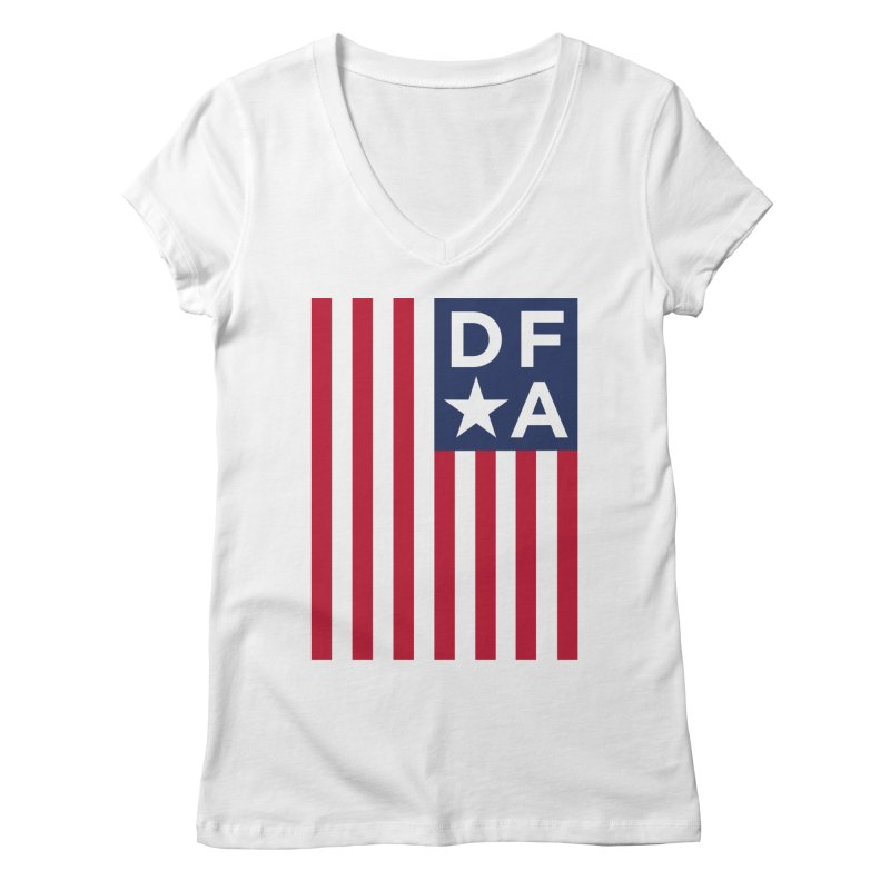 DFA Flag Women's V-Neck by Design for America's Artist Shop