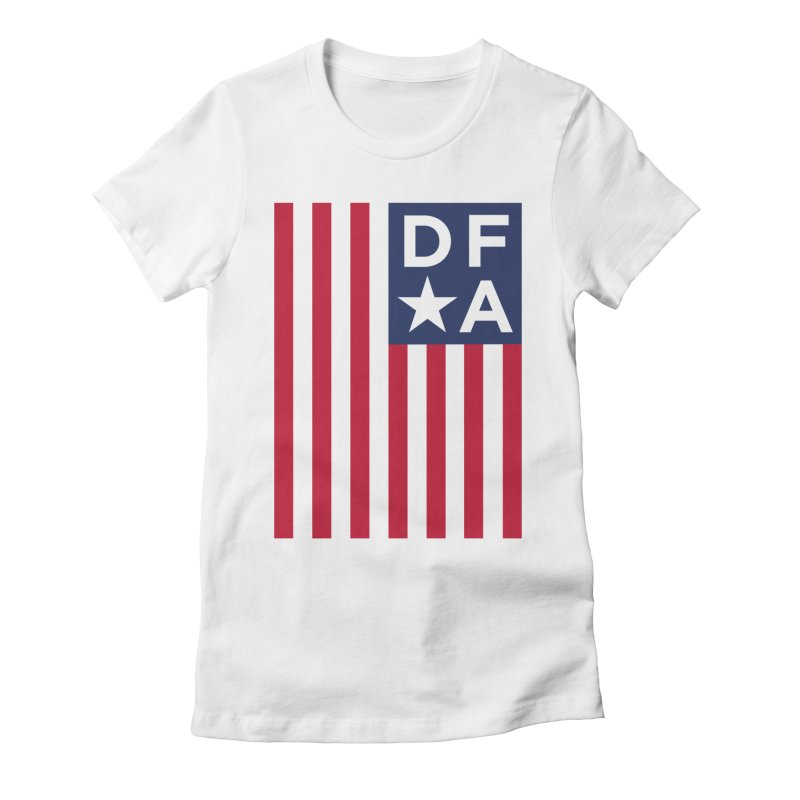 DFA Flag Women's Fitted T-Shirt by Design for America's Artist Shop