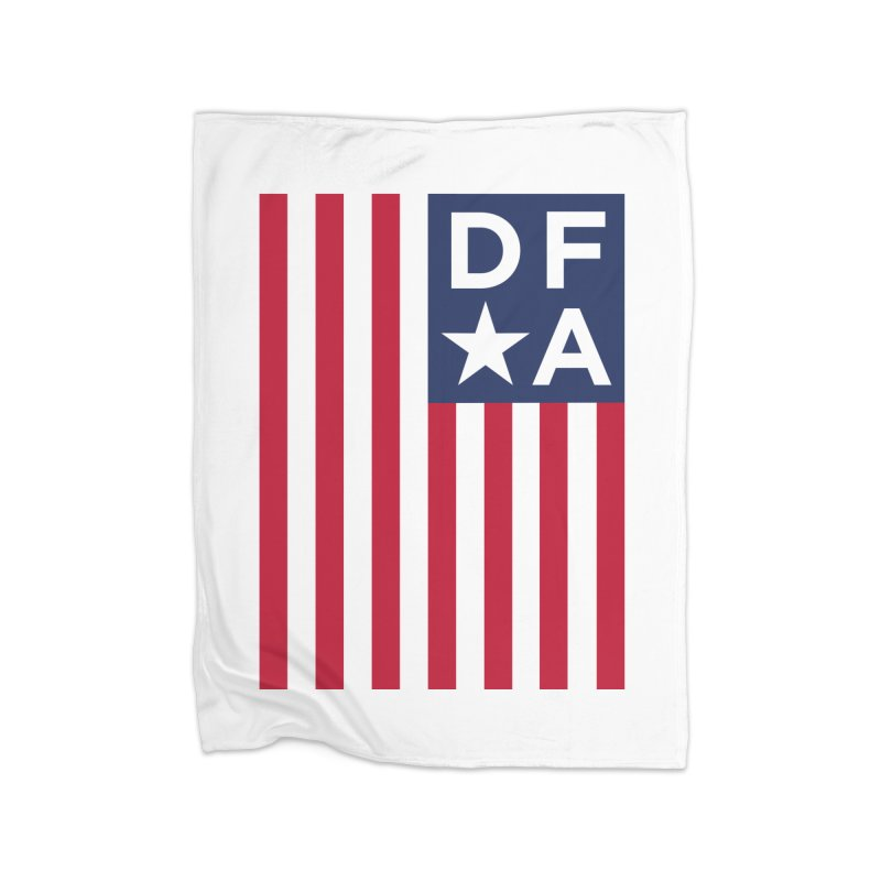 DFA Flag Home Fleece Blanket by Design for America's Artist Shop