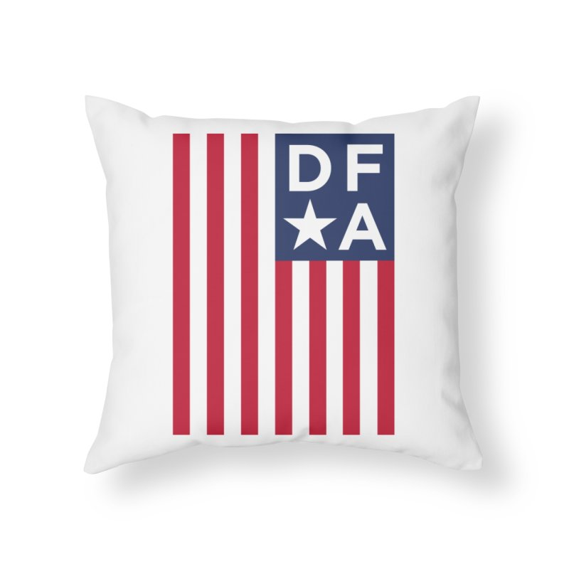 DFA Flag Home Throw Pillow by Design for America's Artist Shop