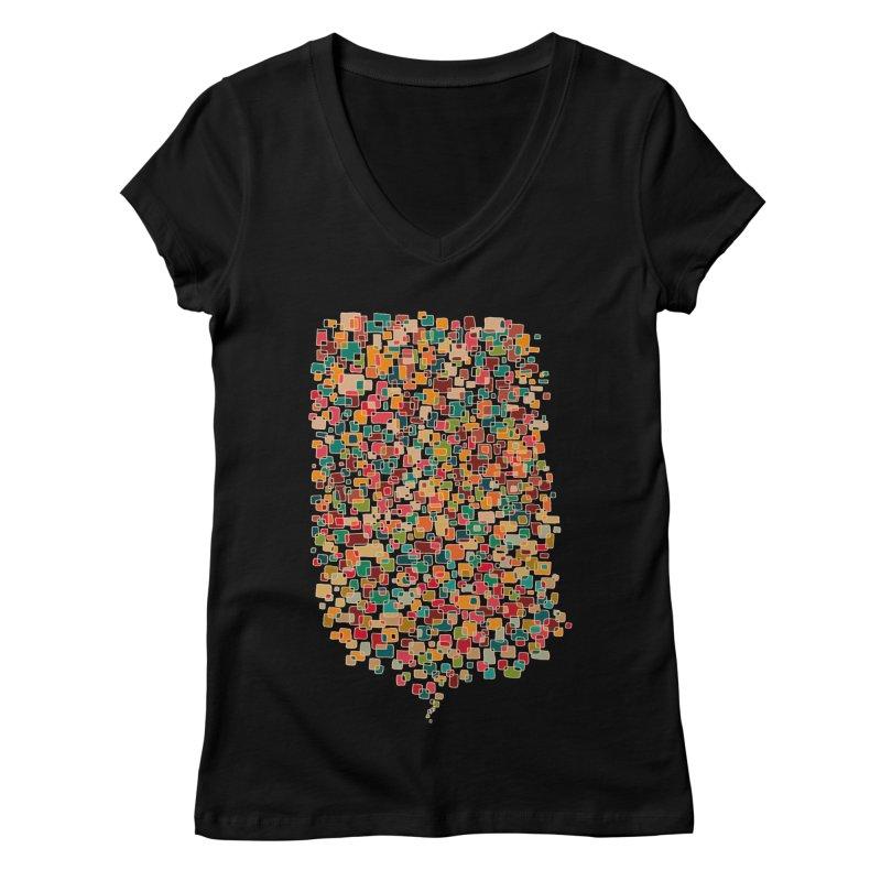 Us & Them Women's V-Neck by DesignKitchen's Artist Shop