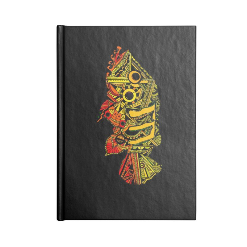 Color Peacock Bass Accessories Blank Journal Notebook by designsbydana's Artist Shop