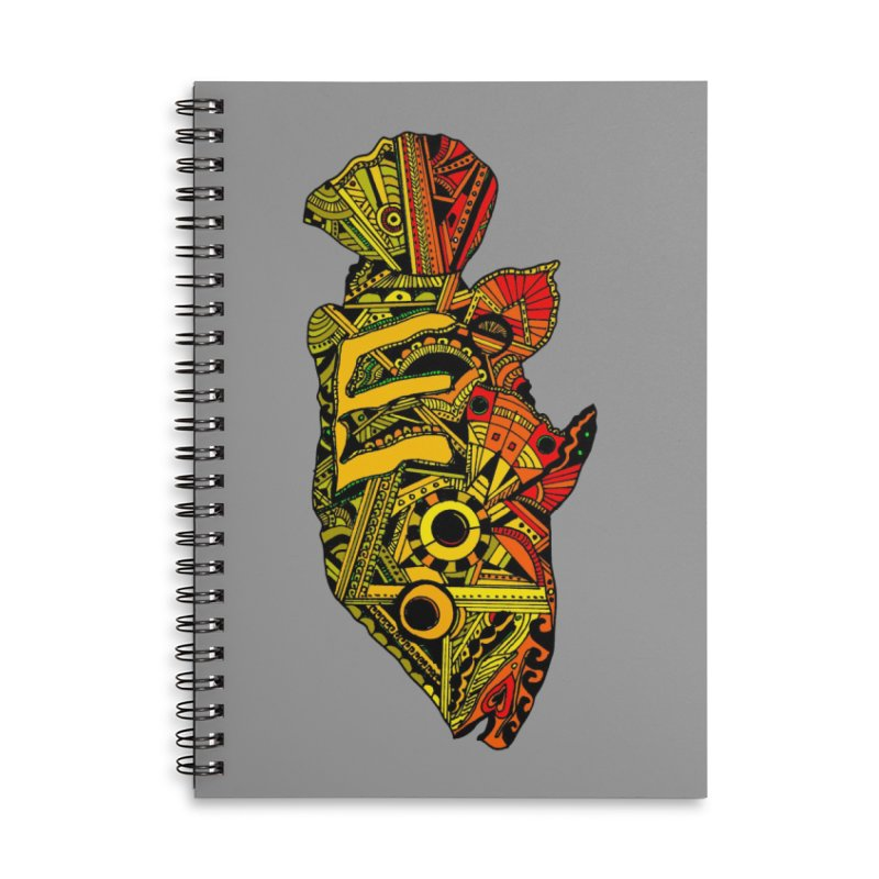 Color Peacock Bass Accessories Lined Spiral Notebook by designsbydana's Artist Shop