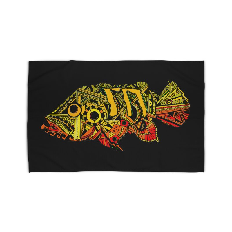 Color Peacock Bass Home Rug by designsbydana's Artist Shop