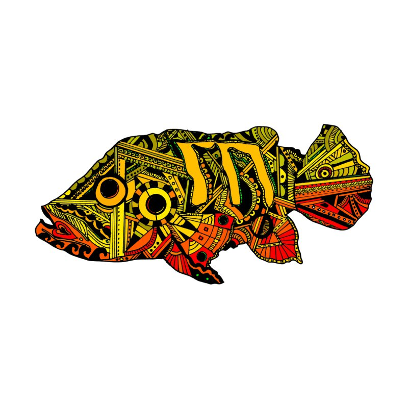 Color Peacock Bass Accessories Skateboard by designsbydana's Artist Shop