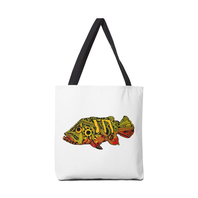 Color Peacock Bass Accessories Tote Bag Bag by designsbydana's Artist Shop