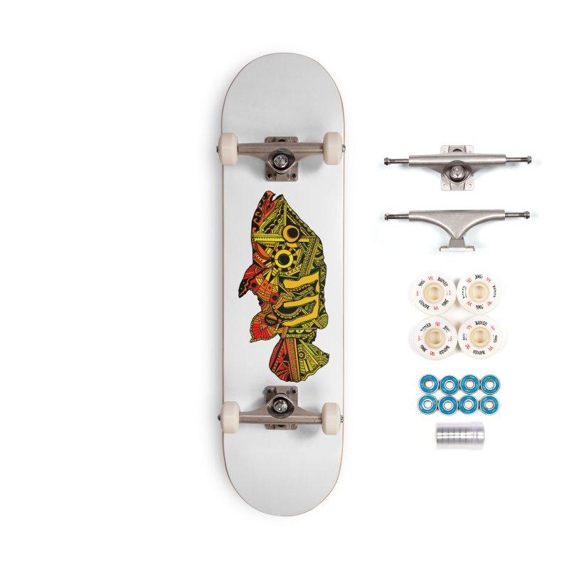 Color Peacock Bass Accessories Complete - Premium Skateboard by designsbydana's Artist Shop