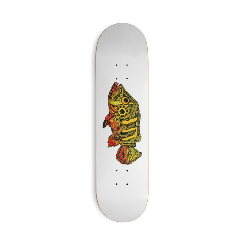 Color Peacock Bass Accessories Deck Only Skateboard by designsbydana's Artist Shop