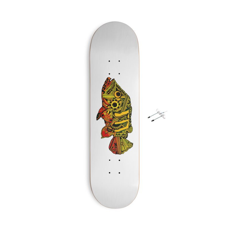 Color Peacock Bass Accessories With Hanging Hardware Skateboard by designsbydana's Artist Shop