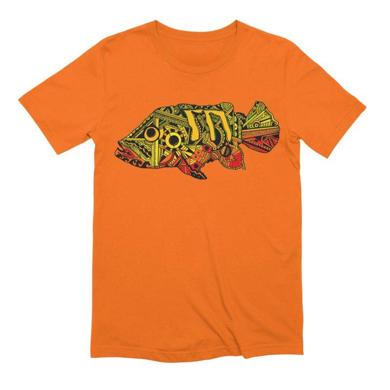 Color Peacock Bass Men's Extra Soft T-Shirt by designsbydana's Artist Shop