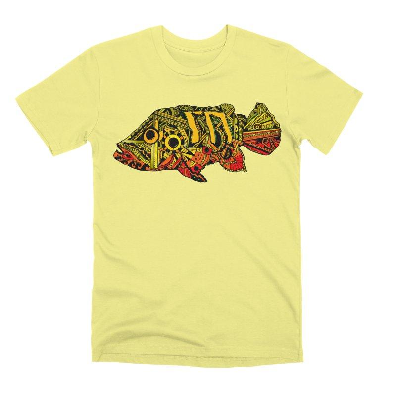 Color Peacock Bass Men's Premium T-Shirt by designsbydana's Artist Shop