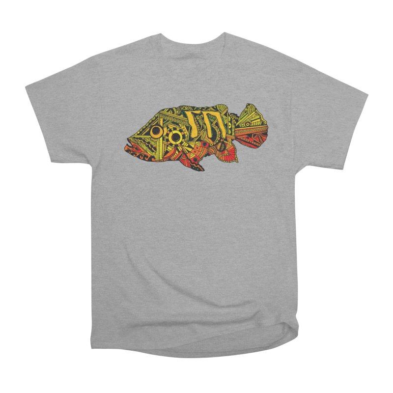 Color Peacock Bass Men's Heavyweight T-Shirt by designsbydana's Artist Shop