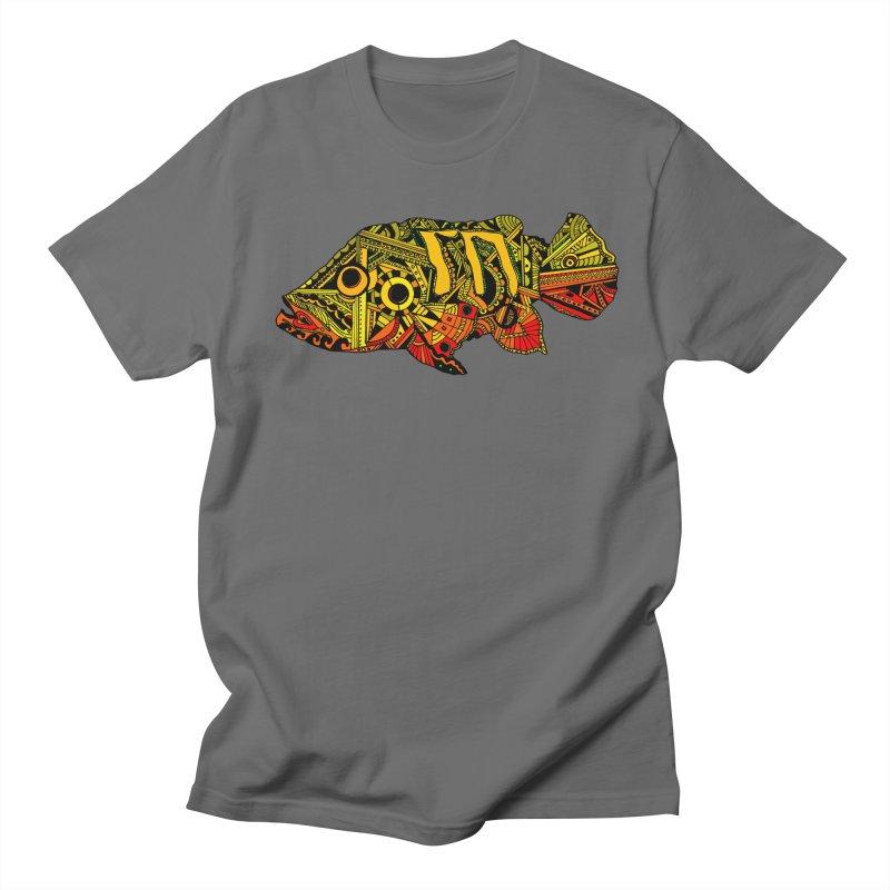 Color Peacock Bass Men's T-Shirt by designsbydana's Artist Shop