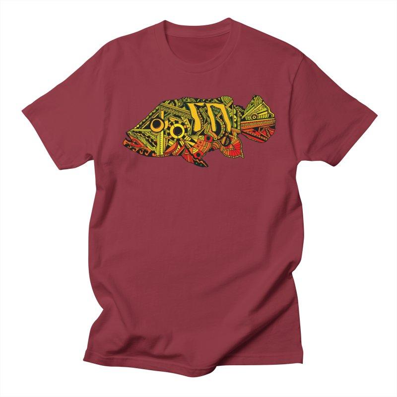Color Peacock Bass Men's Regular T-Shirt by designsbydana's Artist Shop