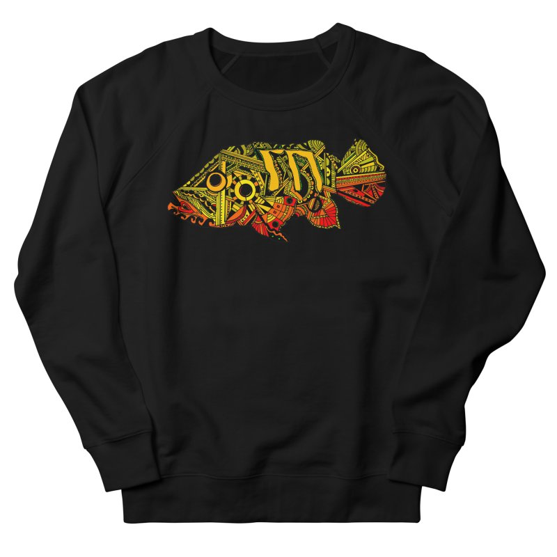 Color Peacock Bass Men's French Terry Sweatshirt by designsbydana's Artist Shop