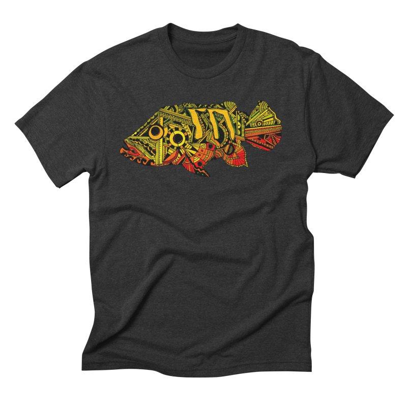 Color Peacock Bass Men's Triblend T-Shirt by designsbydana's Artist Shop