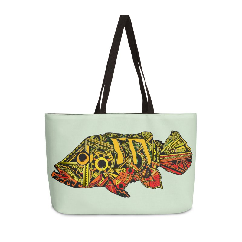Color Peacock Bass Accessories Weekender Bag Bag by designsbydana's Artist Shop