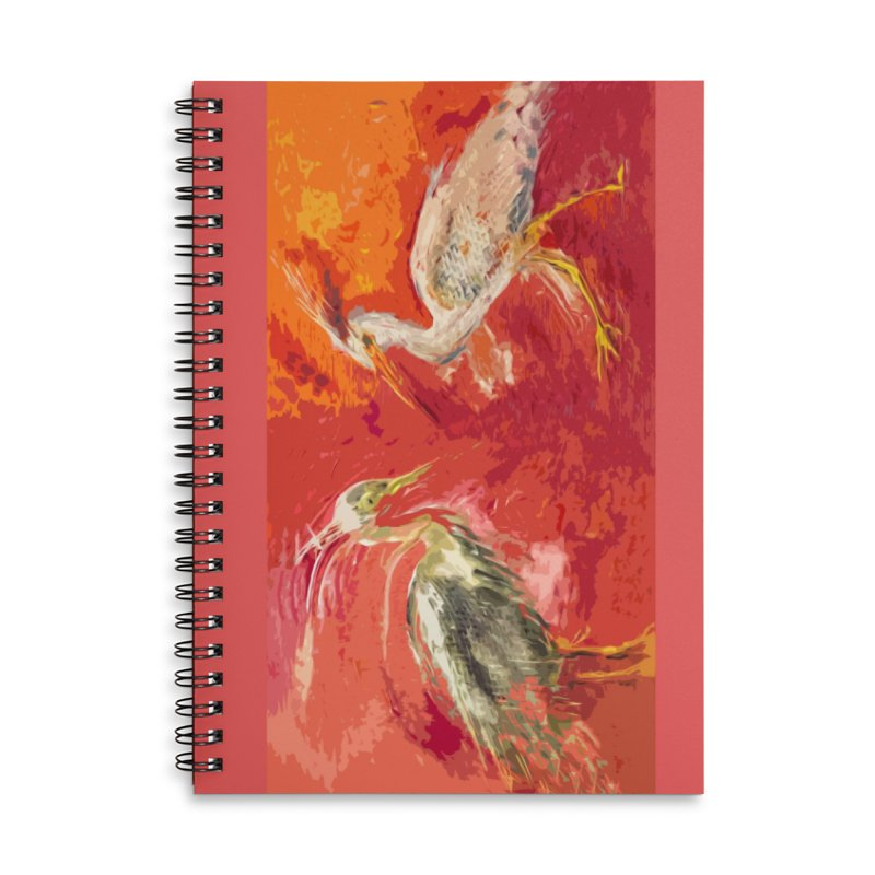 HERONS Accessories Lined Spiral Notebook by designsbydana's Artist Shop