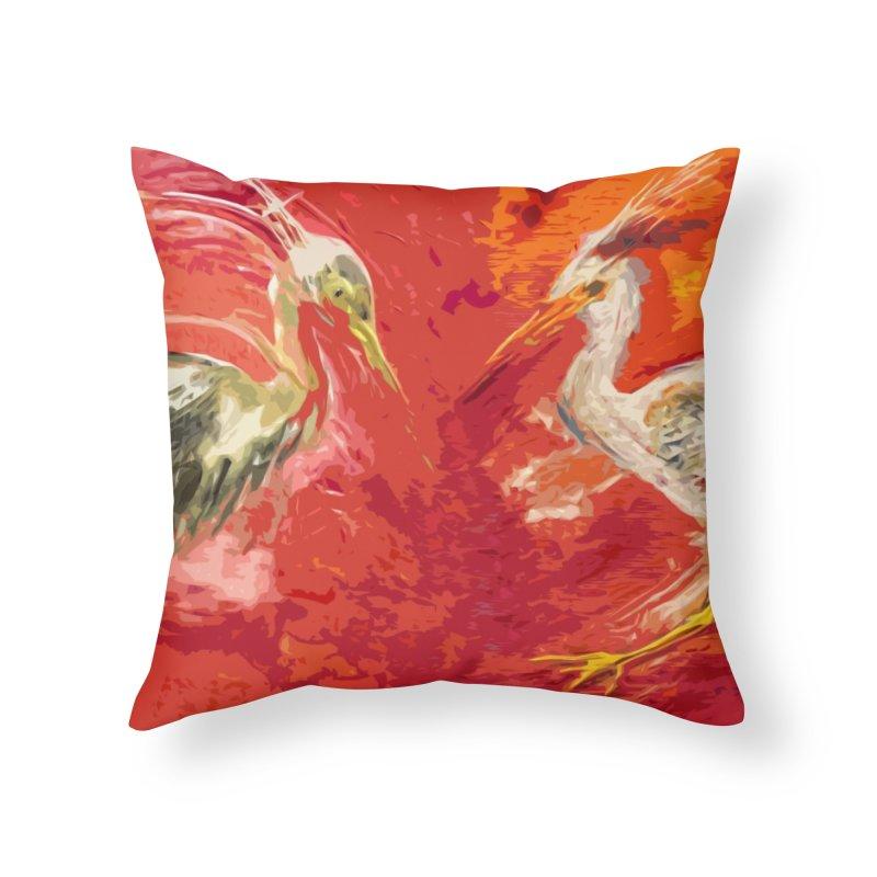 HERONS Home Throw Pillow by designsbydana's Artist Shop